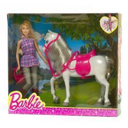Mattel BARBIE Lalka z koniem