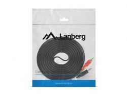 LANBERG Kabel Minijack - 2x Chinch M/M 5M