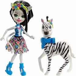 Mattel Lalka Enchantimals Zelena Zebra