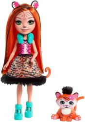 Mattel Lalka Enchantimals Tanzie + Tygrys