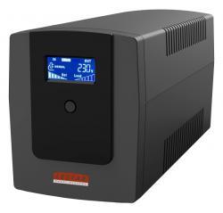 Lestar Zasilacz awaryjny UPS MEL-1200u 1200VA/720W AVR LCD 4xIEC USB RJ45