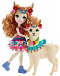 Mattel Lalka Enchantimals Lluella Llama + Fleecy
