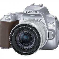 Canon EOS 250D Srebrny + obiektyw EF-S 18-55mm f/4-5.6 IS STM