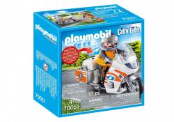 Playm. Notarzt-Motorrad mit Blinklicht | 70051