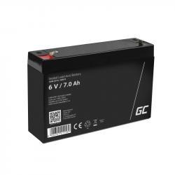 GREEN CELL Battery AGM 6V 7AH