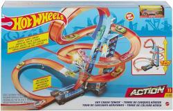 Hot Wheels Wieża Podniebne kraksy Zestaw