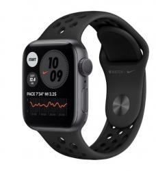 Apple Zegarek Nike Series 6 GPS, 40mm koperta z aluminium w kolorze gwiezdnej szarości z paskiem sportowym antracyt/czarny Nike - Regular
