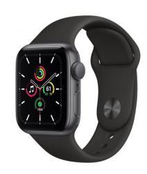 Apple Zegarek SE GPS + Cellular, 40mm koperta z aluminium w kolorze gwiezdnej szarości z czarnym paskiem sportowym - Regular