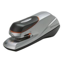 Rexel Zszywacz elektryczny Optima Grip Electric, do 20 kartek, na baterię lub zasilacz, srebrno-czarny