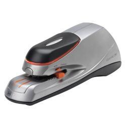 Rexel Zszywacz elektryczny Optima 20 Electric, wskaźnik zużycia, do 20 kartek, na baterię lub zasilacz, srebrno-czarny