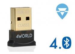 4world Adapter Bluetooth 4.0 EDR USB SuperSpeed Class1 zasięg 80m