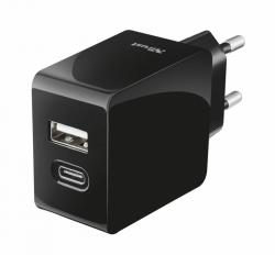 Trust USB A & C Smart Wall Chrger 15W