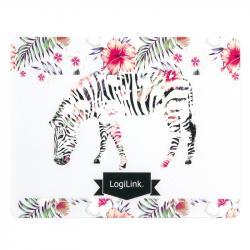 LogiLink Ultra cienka podkładka pod mysz, mot. Zebra