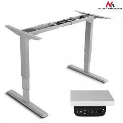 Maclean Biurko- elektryczna regulacja wysokości MC-763 max. wys 125cm 100 kg - bez blatu Szare