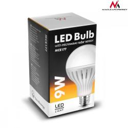 Żarówka LED E27 9W 230V Energy MCE177 WW ciepły biały mikrofalowy czujnik ruchu i zmierzchu