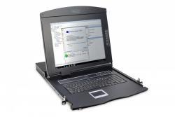Digitus Konsola 17 LCD z touchpad KVM 16 portów 1U komplet kabli (16xDS-19231) klawiatura US