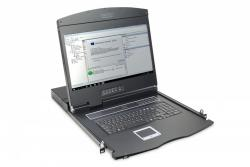 Digitus Konsola 19 LCD z touchpad KVM 16 portów 1U komplet kabli (16xDS-19231) klawiatura US