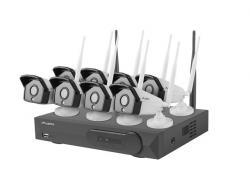 LANBERG Zestaw do monitoringu rejestrator NVR 8 kanałowy WiFi + 8 kamer IP WiFi 1,3Mpx z akcesoriami