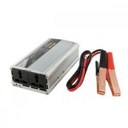 Whitenergy Przetwornica samochodowa 500/1000W 12V(DC) - 230V(AC) 2 gniazda uniwersalne