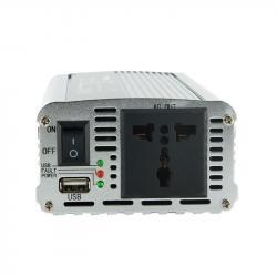 Whitenergy Przetwornica samochodowa 400/800W 24V(DC)-230V(AC) z portem USB