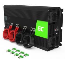 Green Cell Przetwornica 12V/230V 3000W/6000W Mod sinus