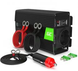 Green Cell Przetwornica 24V/230V 300W/600W Czysty sinus