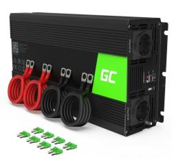 Green Cell Przetwornica 12V/230V 3000W/6000W Czysty sinus