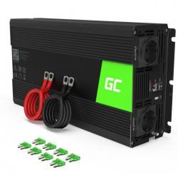 Green Cell Przetwornica 24V/230V 1500W/3000W Czysty sinus