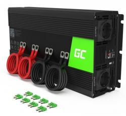 Green Cell Przetwornica 24V/230V 3000W/6000W Czysty sinus
