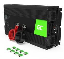 Green Cell Przetwornica 12V/230V 1500W/3000W Czysty sinus