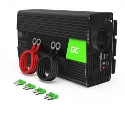Green Cell Przetwornica 24V/230V 1000W/2000W Mod sinus