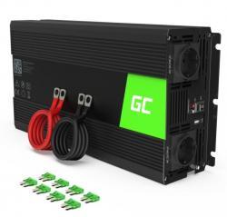 Green Cell Przetwornica 24V/230V 1500W/3000W Mod sinus