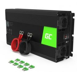 Green Cell Przetwornica 12V/230V 1500W/3000W Mod sinus