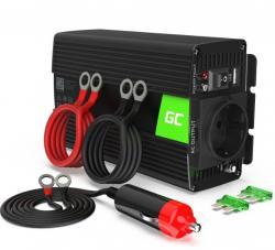 Green Cell Przetwornica 24V/230V 300W/600W Mod sinus