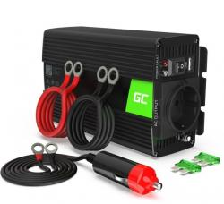 Green Cell Przetwornica 12V/230V 500W/1000W Mod sinus