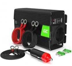 Green Cell Przetwornica 12V/230V 300W/600W Czysty sinus