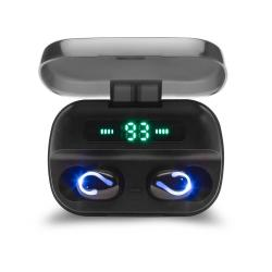 Elmak Słuchawki bezprzewodowe Bluetooth Savio TWS-06 BT 5.0 z mikrofonem, powerbankiem i led