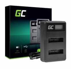 Green Cell Podwójna ładowarka LI-50C do Olympus LI-50B, SZ-15 SZ-16 Tough 6000 8000 TG-810 TG-820 TG-830 TG-850 VR-370 XZ-1